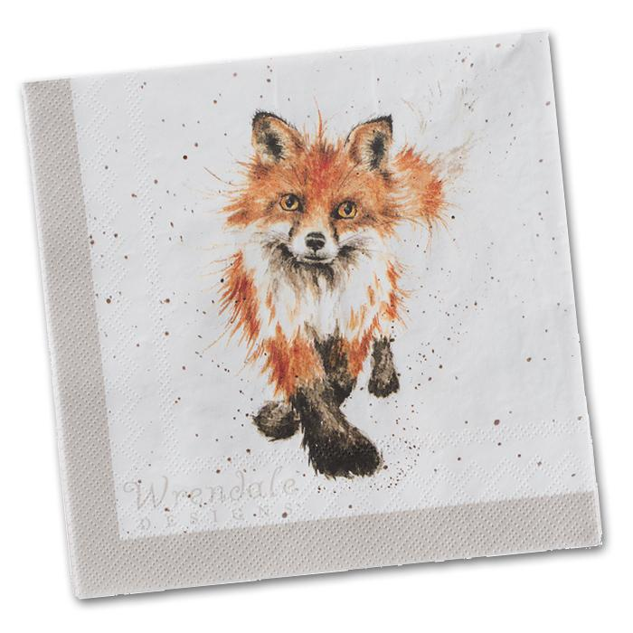 Afternoon Nap - Fox Paper Napkin Luncheon