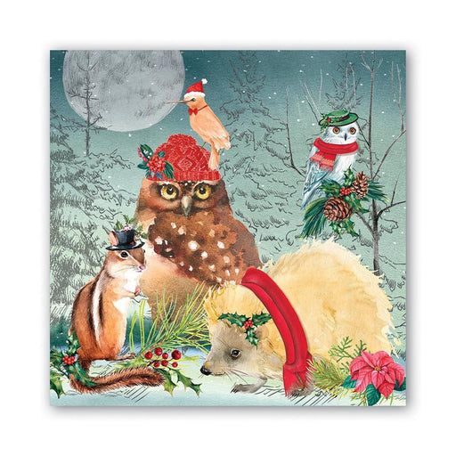 Woodland Christmas Party Napkins - Luncheon