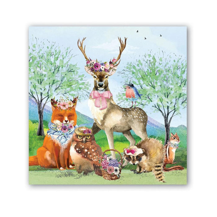 Woodland Garden Party Paper Beverage Napkins