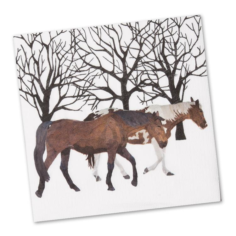 Winter Horses Paper Napkins - Luncheon
