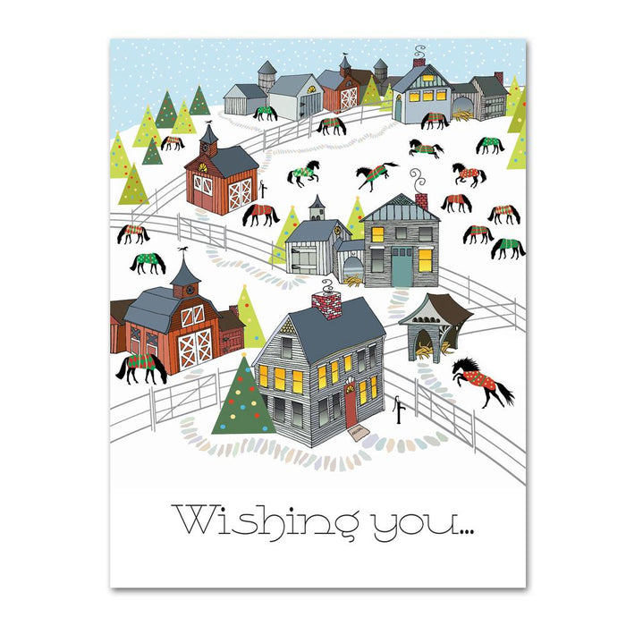 A New England Horse Christmas Cards