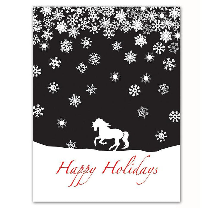 Horse Snowflakes Christmas Cards
