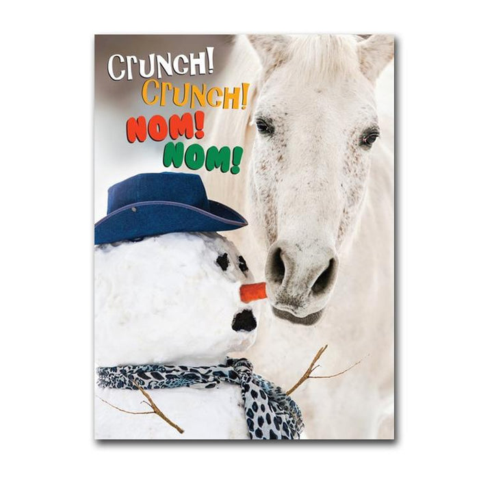 Carrot Crunch - Horse Christmas Cards