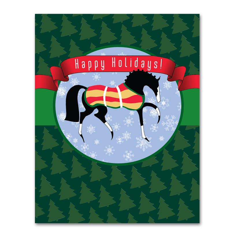 Holiday Prance Horse Christmas Cards