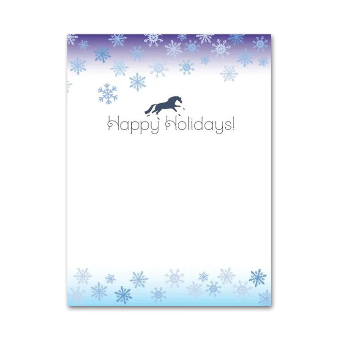 Blue Gallop Horse Christmas Cards
