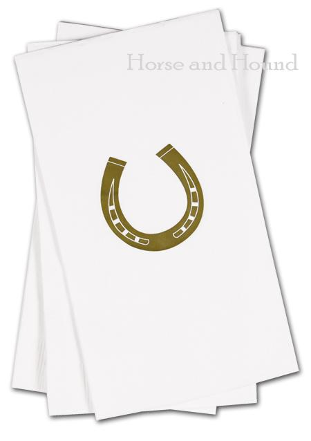 Gold Horseshoe Paper Guest Towels