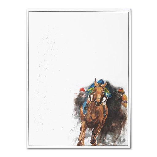 Kickin' Dirt - Thoroughbred Racehorse Stationery
