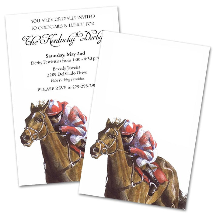 Race Day, Party Invitation