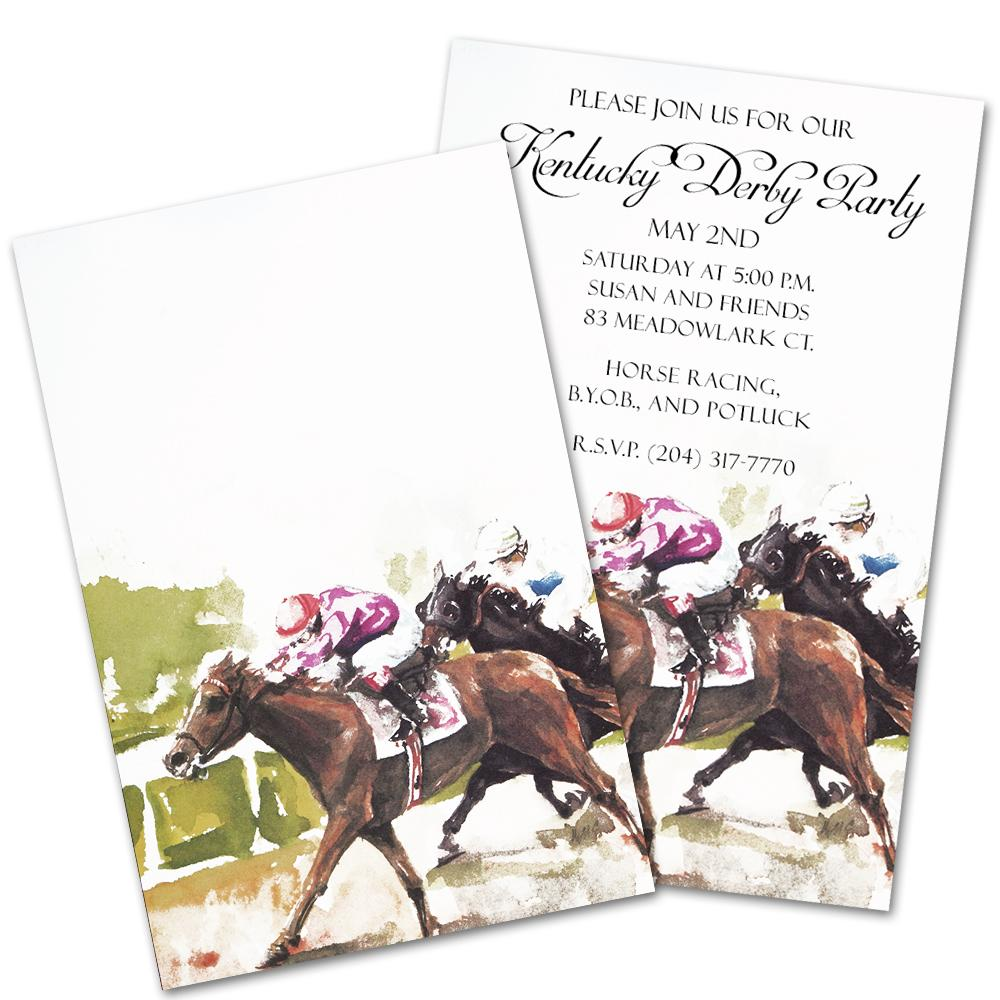 1st and 2nd Place Horse Racing Party Invitations