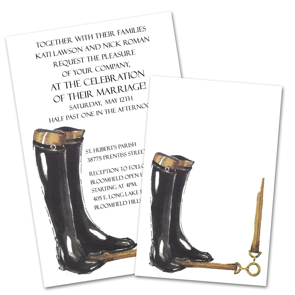 Riding Boots - Equestrian Party Invitations