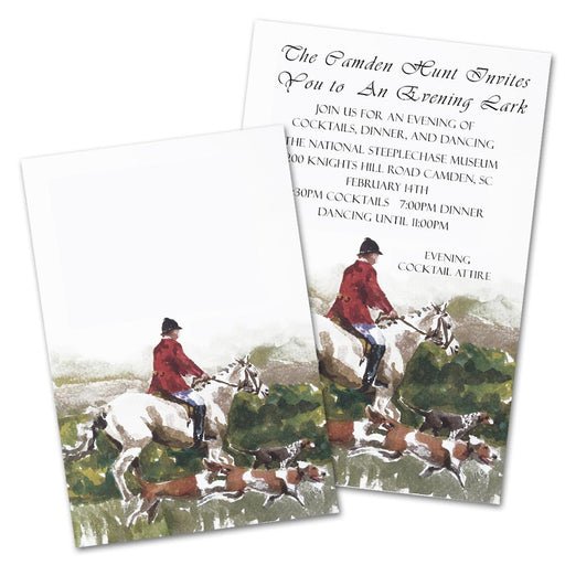 The Hunt Field Party Invitations