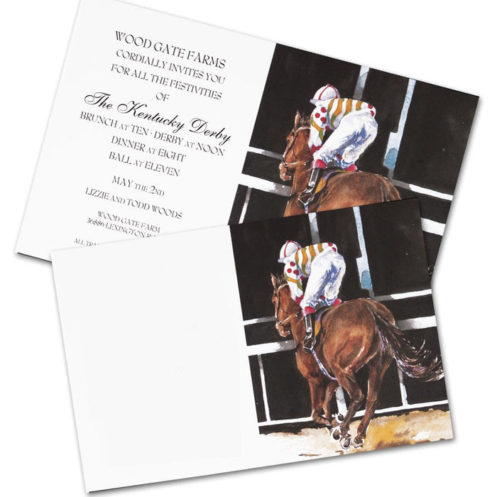 Post in Sight - Horse Racing Party Invitation