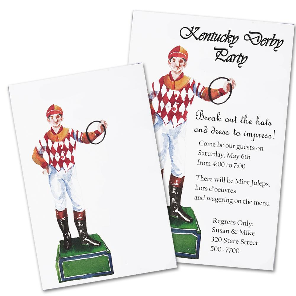 Lawn Jockey - Horse Racing Party Invitation