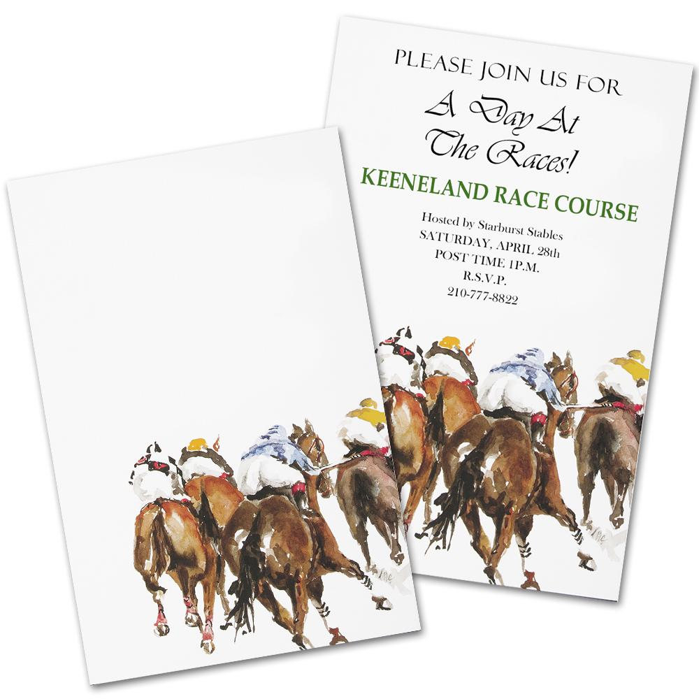 4th Place - Thoroughbred Racing Party Invitation