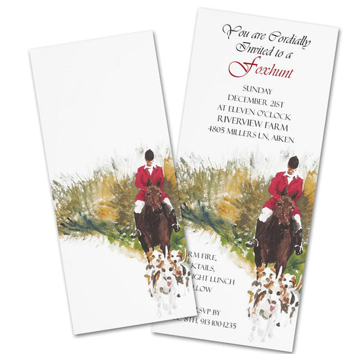 Bounding Hounds - Foxhunting Party Invitations