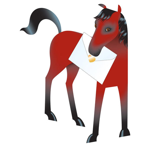 Babble the Bay Horse 3D Greeting Card