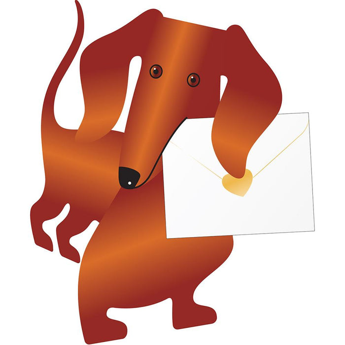 Weeny the Dachshund 3D Greeting Card