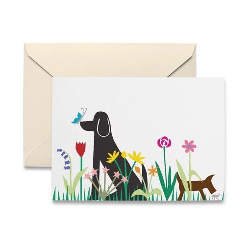 Dogs in Garden Note Cards by R. Nichols