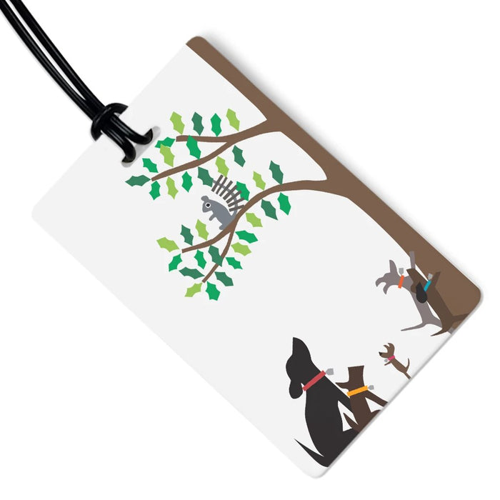 Dog Luggage Tag - Squirrel Hunters