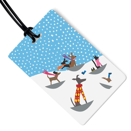 Dog Luggage Tag - Snow Dogs