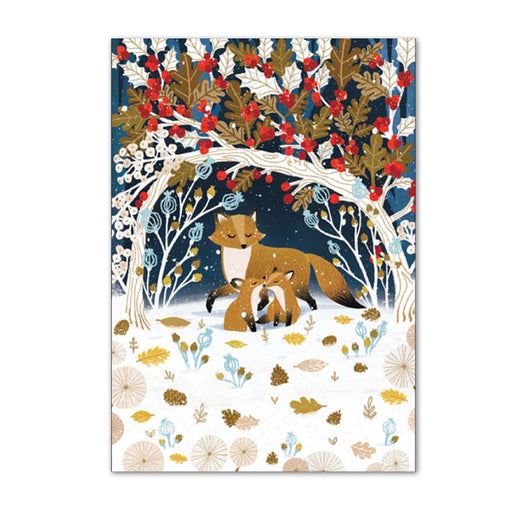 Frosty Forest Fox Christmas Cards