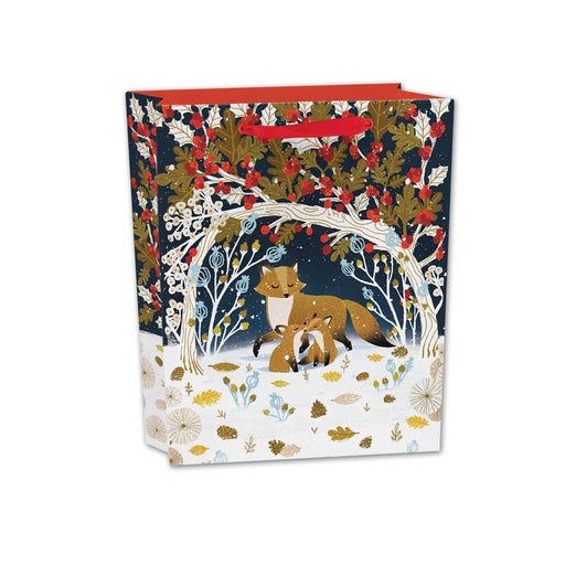 Frosty Forest Fox Gift Bag - Small Landscape