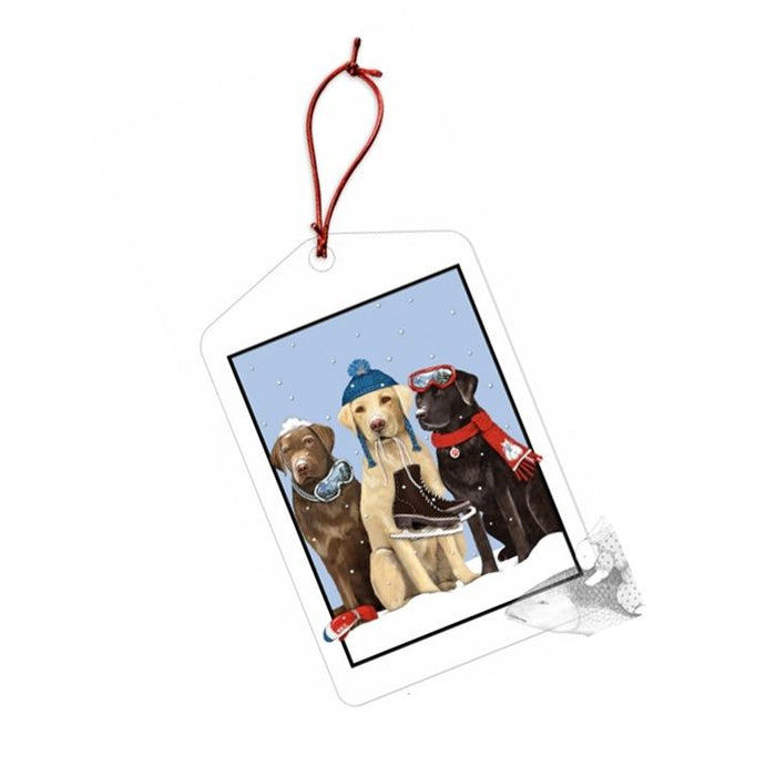 Winter Dogs Gift Tags