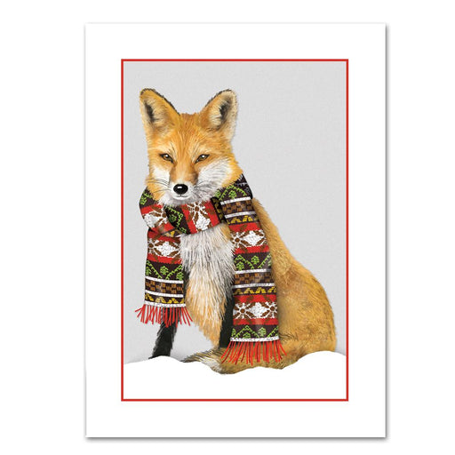 Cozy Fox Christmas Cards