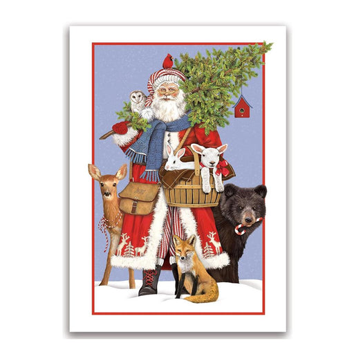 Woodland Santa Christmas Cards