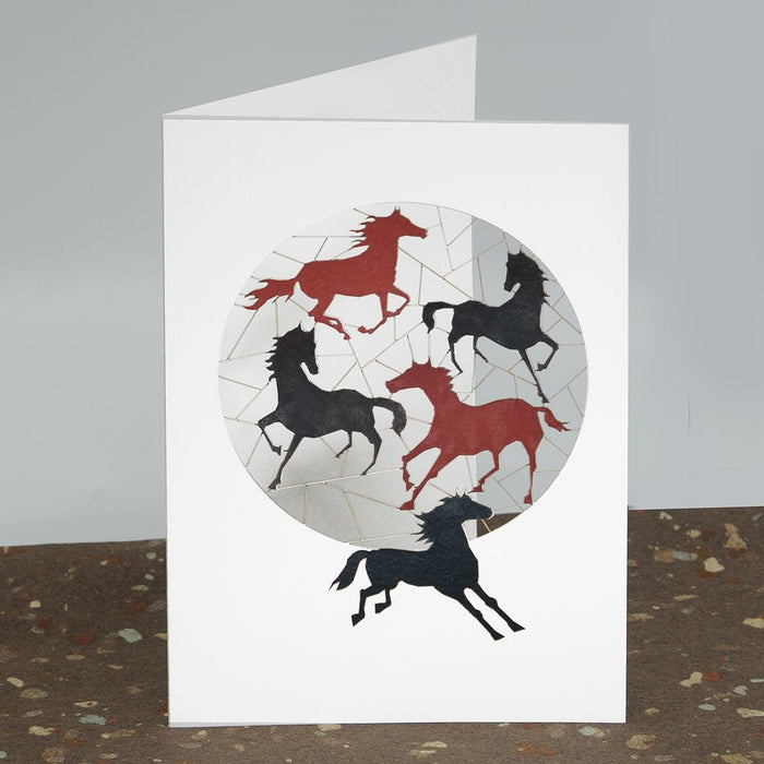 Pasture Party Horse Laser Cut Greeting Card