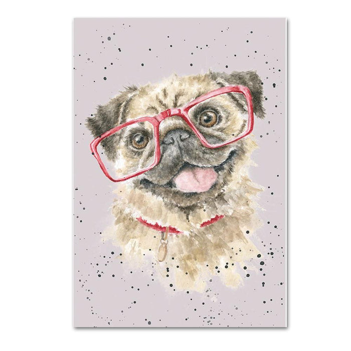 Playful Pug Note Card by Wrendale