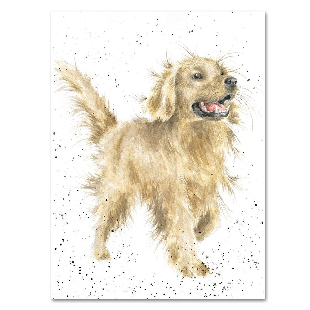 Golden Retriever Note Card by Wrendale