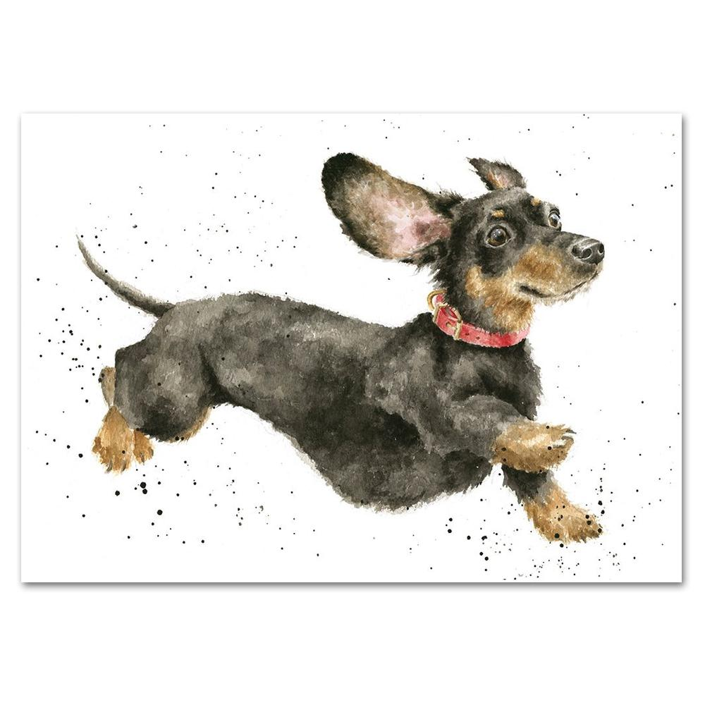 Friday Feeling Dachshund Note Card by Wrendale