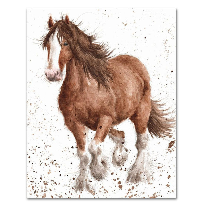 Feathers Horse Note Card by Wrendale