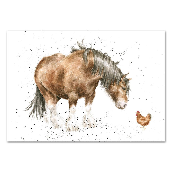 Farmyard Friends Horse Note Card by Wrendale