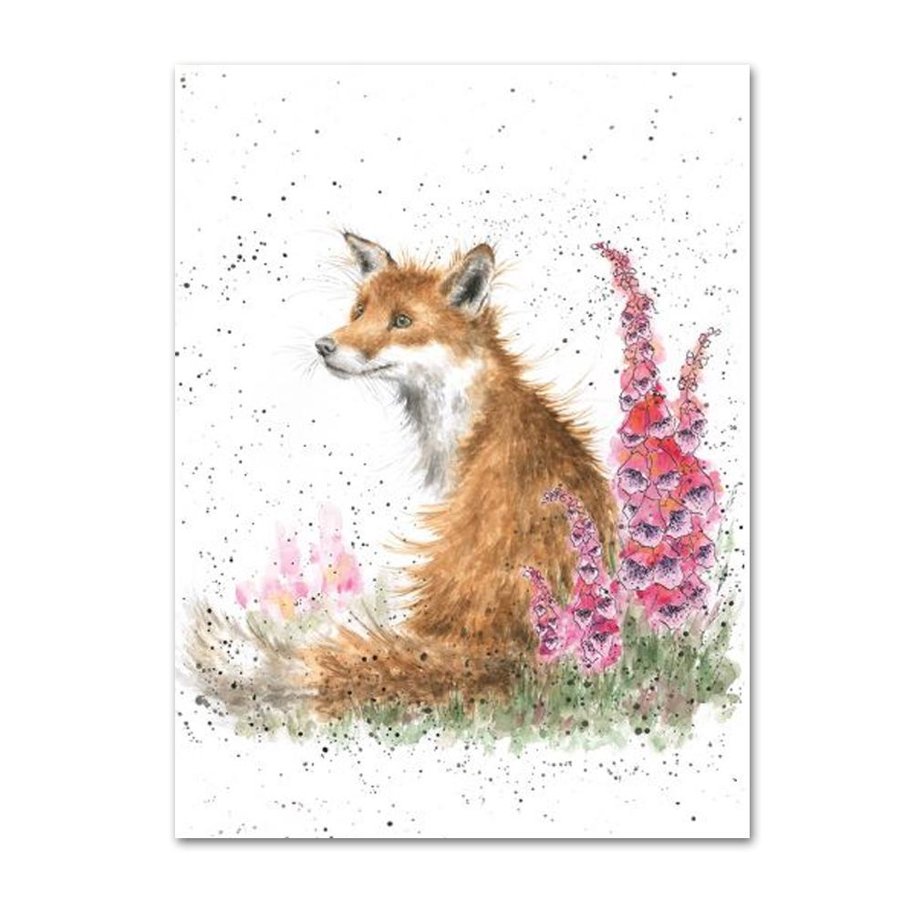 Foxgloves Fox Note Card by Wrendale