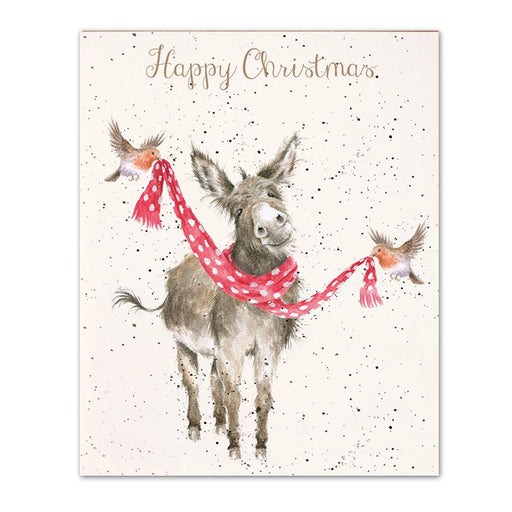 All Wrapped Up Donkey Christmas Cards by Wrendale