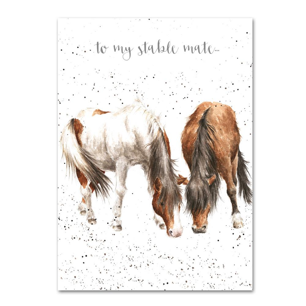 Stable Mates Horse Greeting Card by Wrendale