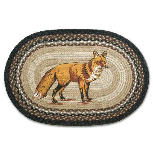 Red Fox Braided Oval Accent Rug
