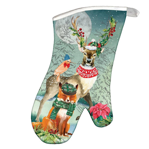 Woodland Christmas Party Oven Mitt