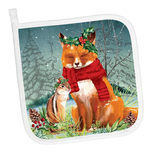 Woodland Christmas Party Potholder