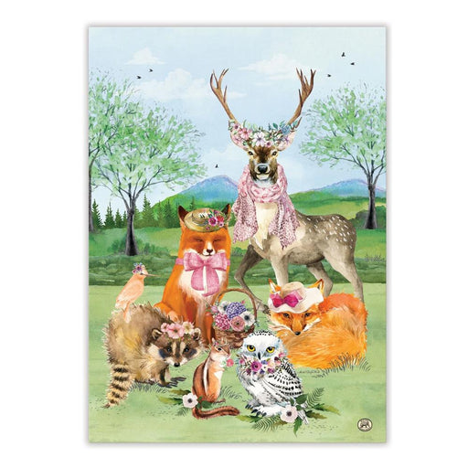 Woodland Garden Party Kitchen Tea Towel