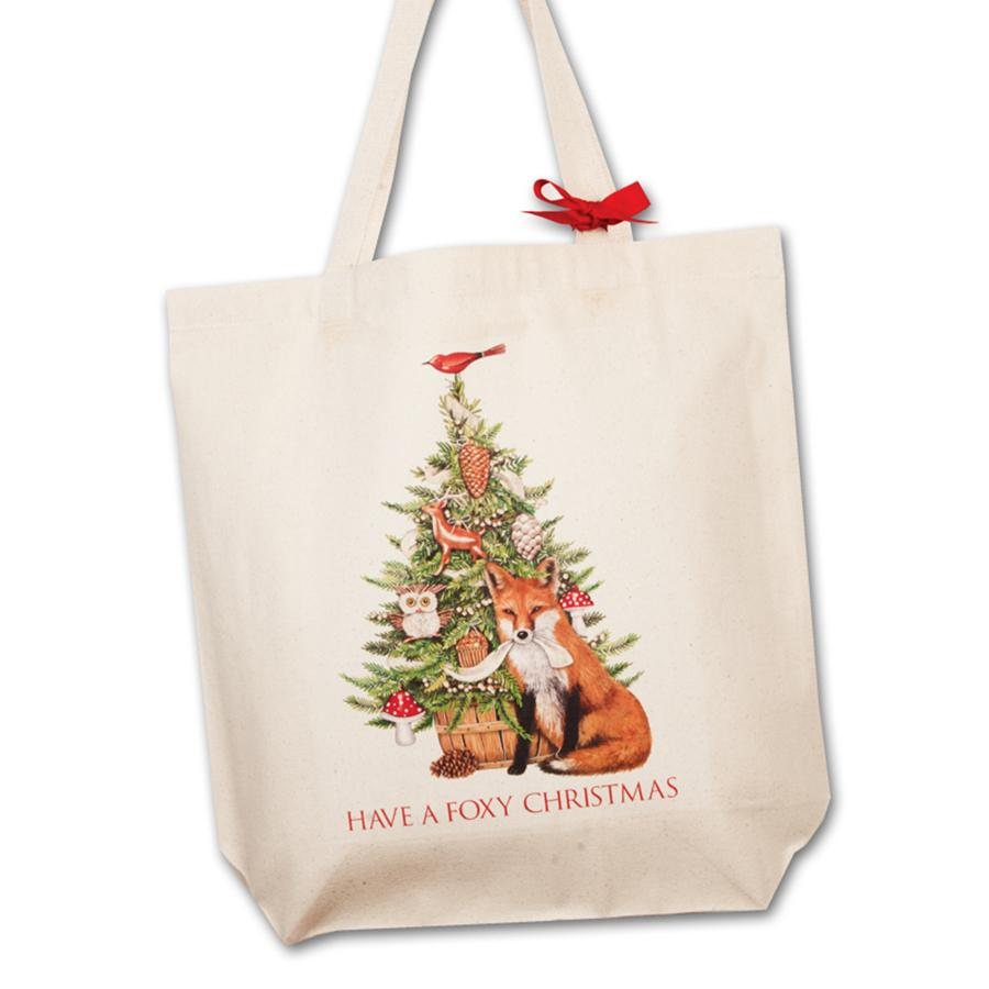 Foxy Christmas Square Tote