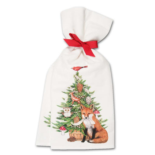 Foxy Christmas Kitchen Towels  - Set of 2