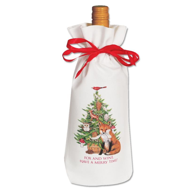 Foxy Christmas Wine Bag