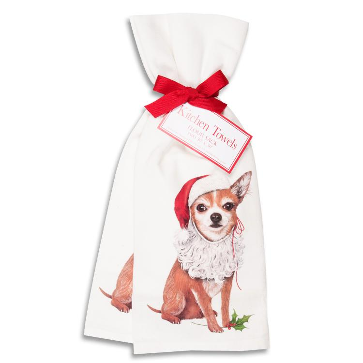 Holiday Chihuahua Kitchen Towels - Set of 2
