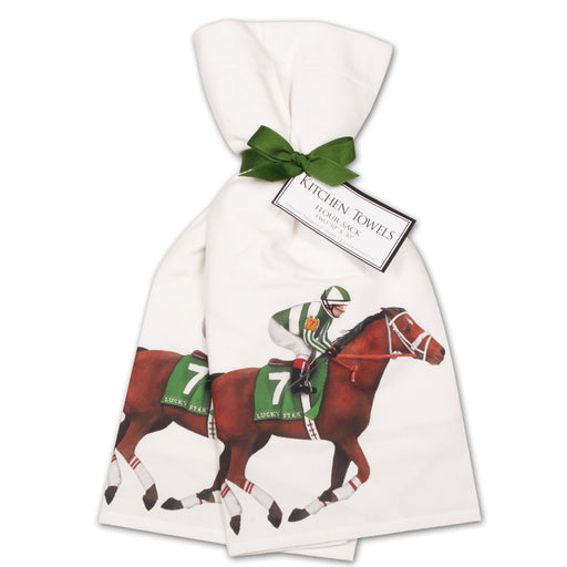 Derby Horse Kitchen Towels  - Set of 2