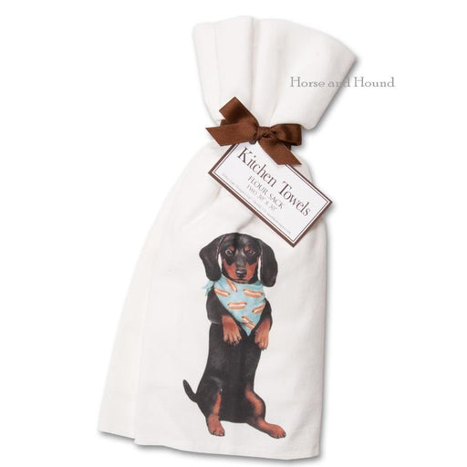 Begging Dachshund Kitchen Towels  - Set of 2