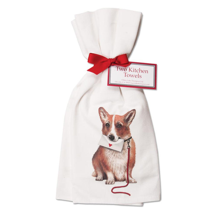 Corgi Kitchen Towels  - Set of 2