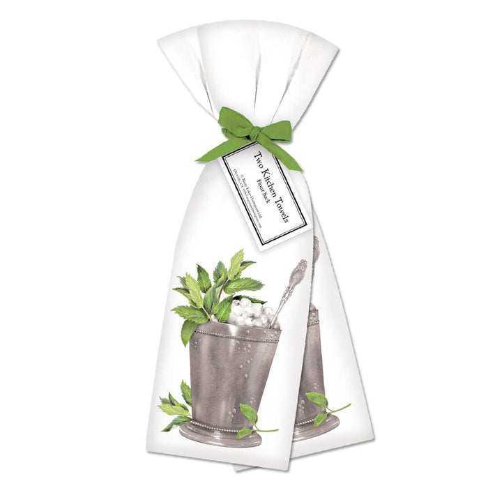 Mint Julep Kitchen Towels  - Set of 2